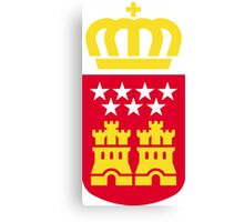 Coat of Arms of the Community of Madrid Canvas Print