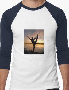 dancer at sunset Men's Baseball ¾ T-Shirt