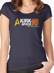 Kirk / Spock 2016 Women's Fitted Scoop T-Shirt