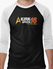 Kirk / Spock 2016 Men's Baseball ¾ T-Shirt