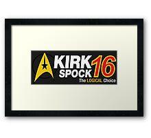 Kirk / Spock 2016 Framed Print