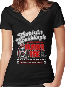 Captain Spaulding Murder Ride Women's Fitted V-Neck T-Shirt