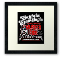 Captain Spaulding Murder Ride Framed Print