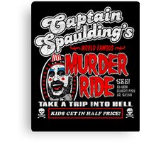 Captain Spaulding Murder Ride Canvas Print