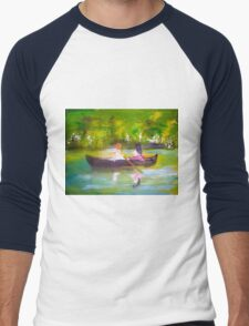 AfterNoon by Colleen Ranney Men's Baseball ¾ T-Shirt