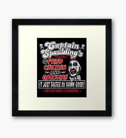 Captain Spaulding Fried Chicken & Gasoline Framed Print