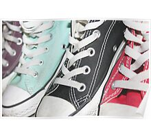 Coloured Sneakers Poster