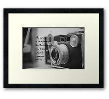 Dorothea Lange Camera Framed Print