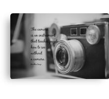 Dorothea Lange Camera Canvas Print