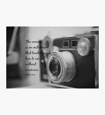 Dorothea Lange Camera Photographic Print