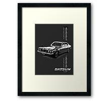 Datsun Bluebird 610 2000 GTX 1974 - Stripe Framed Print