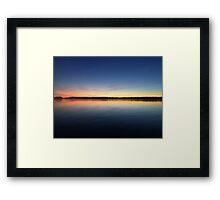 ohio sunset on a lake Framed Print