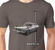 Datsun Bluebird 610 2000 GTX 1974 - Stripe Unisex T-Shirt
