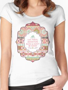 Seamless pattern in native american style Women's Fitted Scoop T-Shirt