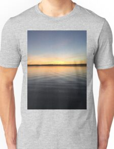 ohio sunset on a lake Unisex T-Shirt