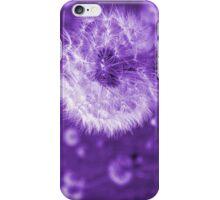 Purple Dandelion Time Peace iPhone Case/Skin