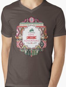 Seamless pattern in native american style Mens V-Neck T-Shirt