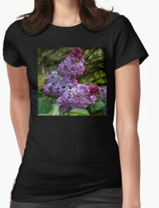 Purple Lilac Blossoms Womens Fitted T-Shirt