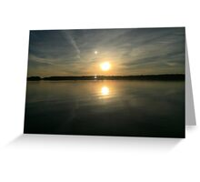 ohio sunset on a lake Greeting Card
