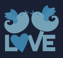 LOVE BLUE birds Kids Tee
