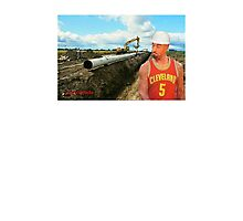 JR Laying Pipe Photographic Print