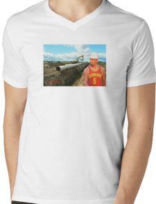 JR Laying Pipe Mens V-Neck T-Shirt