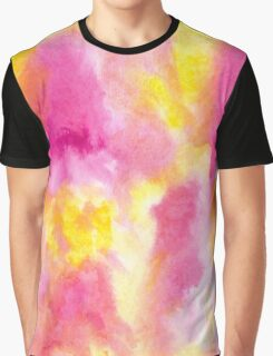 Pink and Yellow Abstract Graphic T-Shirt
