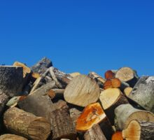 The Blue Skies Log Pile Sticker