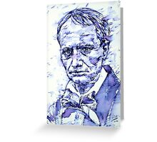 CHARLES BAUDELAIRE portrait Greeting Card