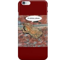 Camera Shy Frog iPhone Case/Skin
