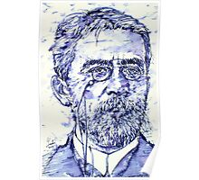 ANTON CHEKHOV - watercolor portrait.3 Poster
