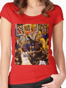 Lebron Robs Steph Women's Fitted Scoop T-Shirt