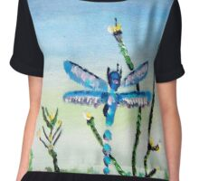 Dragon Fly by Colleen Ranney Chiffon Top