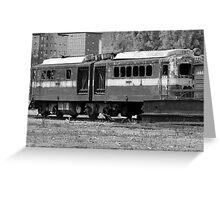 Broken Down Train Greeting Card
