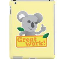 Great work Koala cute iPad Case/Skin
