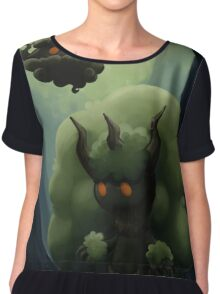 Fluffy Forest Ghosts Chiffon Top