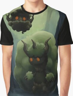 Fluffy Forest Ghosts Graphic T-Shirt