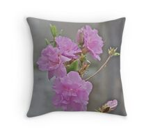 Pink Azalea 4 Throw Pillow