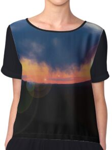 Sunset in the Valley Chiffon Top