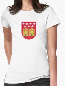 Coat of Arms of the Community of Madrid (Shield) Womens Fitted T-Shirt