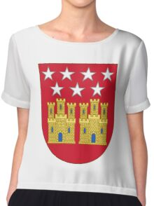 Coat of Arms of the Community of Madrid (Shield) Chiffon Top