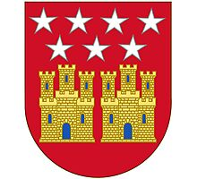Coat of Arms of the Community of Madrid (Shield) Photographic Print