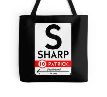 Retro CTA sign Sharp Tote Bag