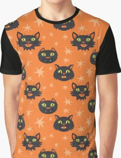 Halloween Cats in black Graphic T-Shirt