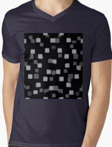 Gray Squares 2 Mens V-Neck T-Shirt