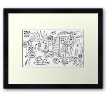 30A COLORING MAP BY ADARO ART Framed Print