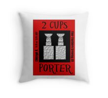 2 Cups Throw Pillow