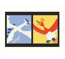 Minimalist Set - Lugia / Ho-oh Art Print
