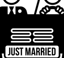 Just Married – Honeymoon (1C) Sticker