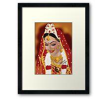 Digital Painting of Indian (Bengali) Bride Framed Print